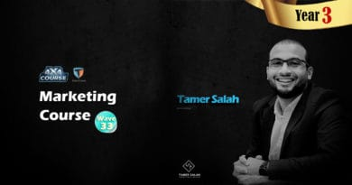 Dr.Tamer Salah Marketing Course in Egypt